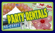 Party Rentals - Tables, Tents, Chairs, Concession & Catering Equipment