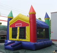 Buffalo Rainbow Castle Bounce House